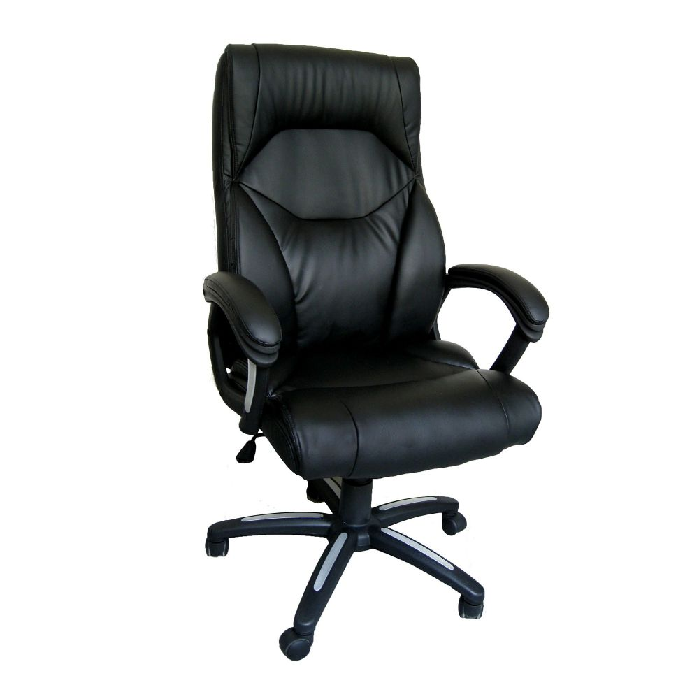 Wellington High Back, Soft Leather Effect, Executive Chair, Black. Eliza Tinsley